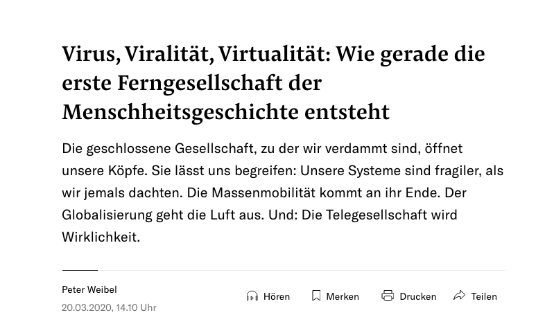 Screenshot der Website nzz.ch