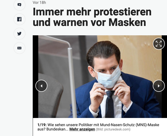 Screenshot der Webseite heute.at