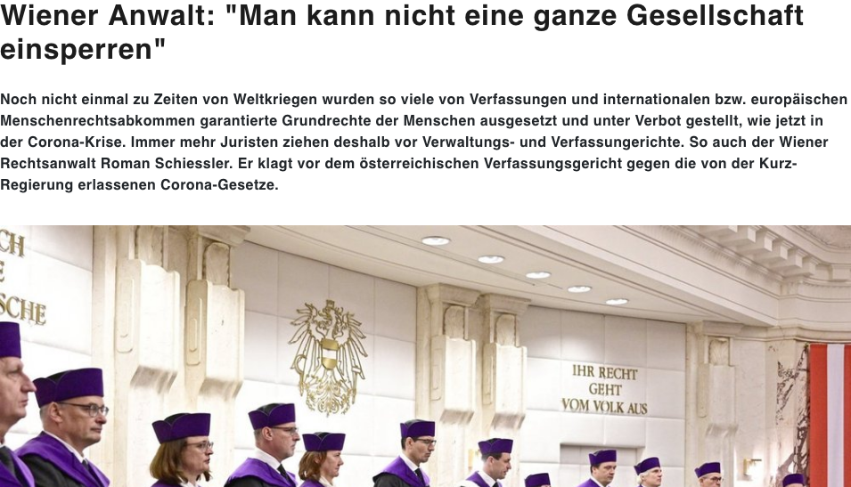 Screenshot der Webseite voxnews.online