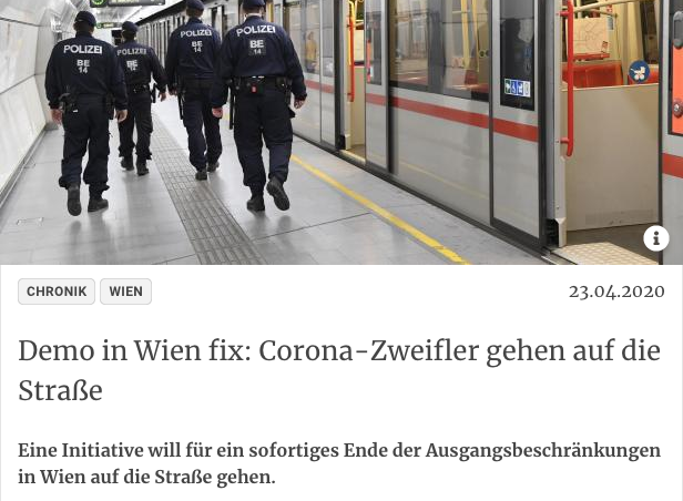 Screenshot der Webseite kurier.at