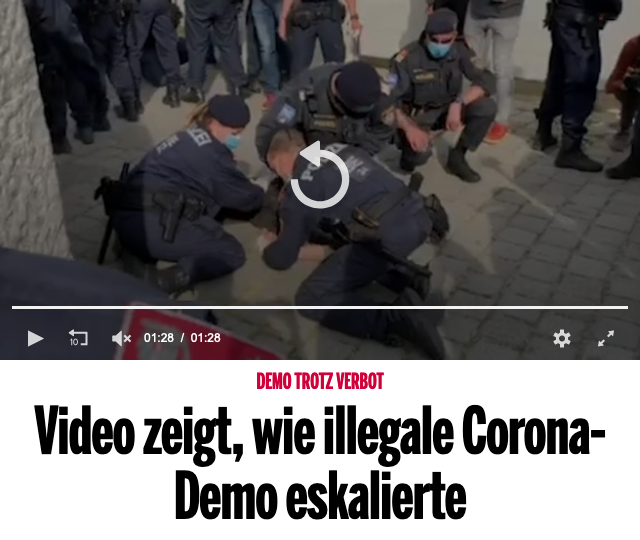 Screenshot der Webseite oe24.at