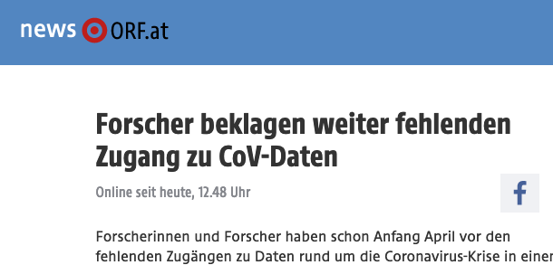 Screenshot der Webseite orf.at