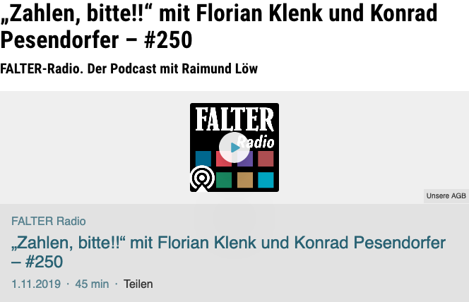 Screenshot der webseite falter.at