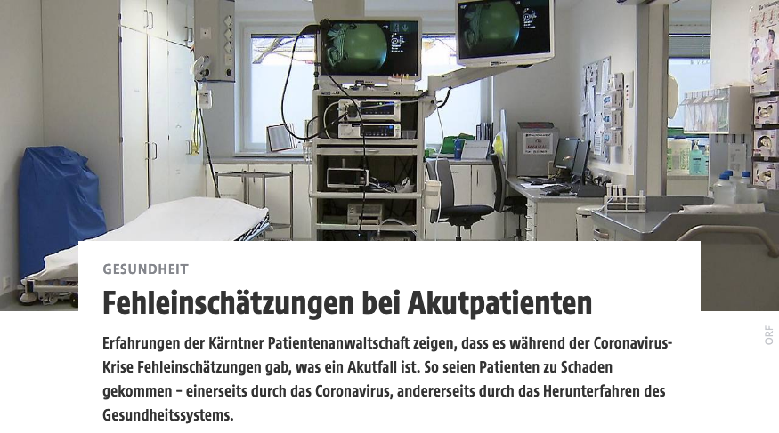 Screenshot der webseite kaernten.orf.at