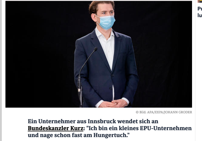 Screenshot der webseite news.at