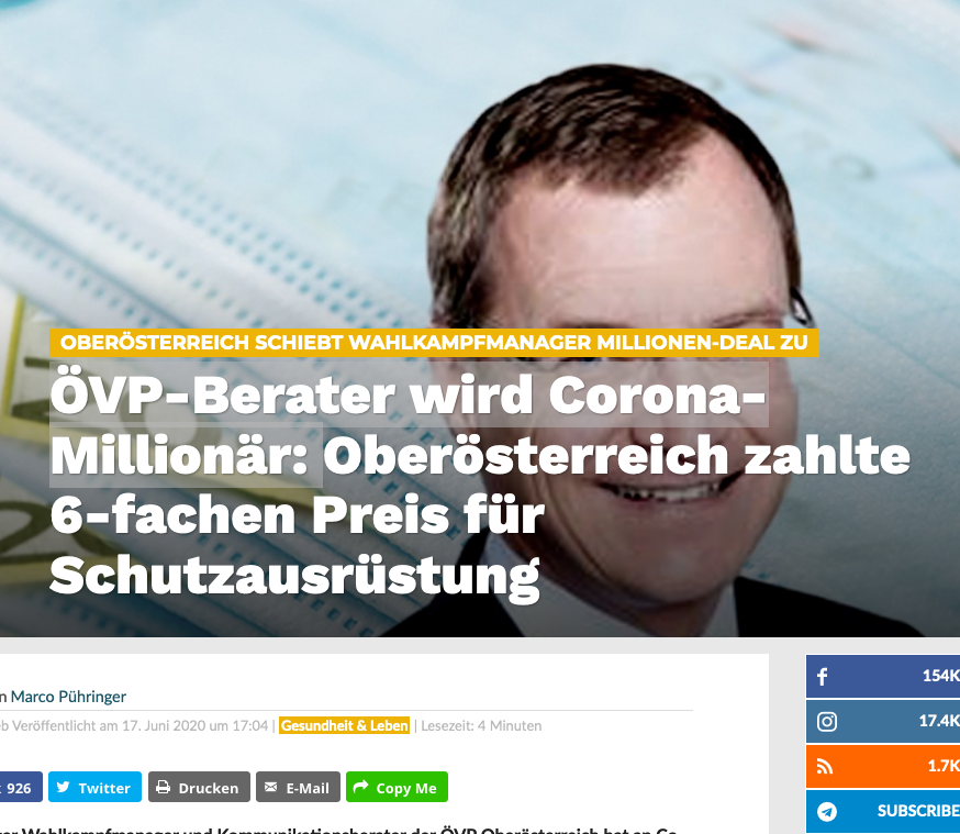 Screenshot der webseite kontrast.at