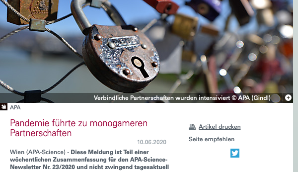 Screenshot der Webseite science.apa.at