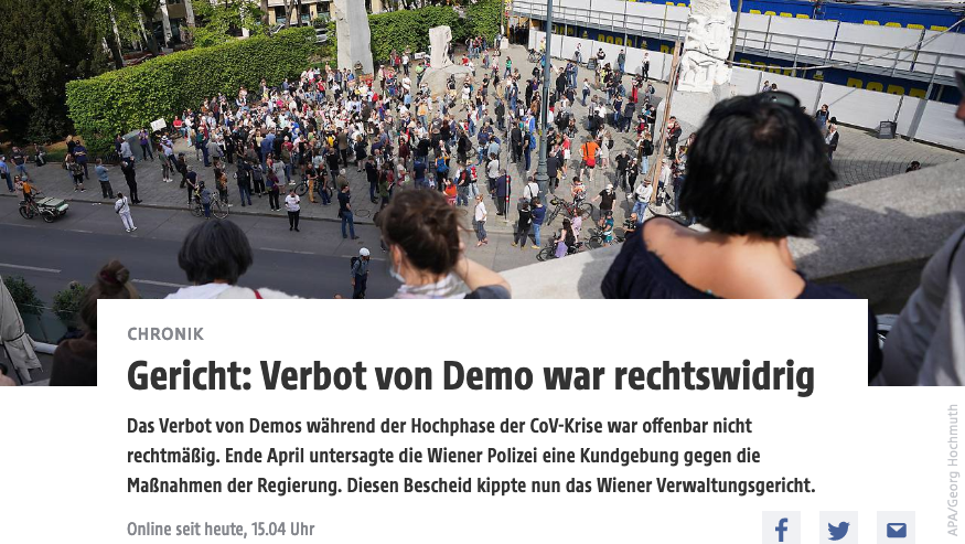 Screenshot der webseite wien.orf.at