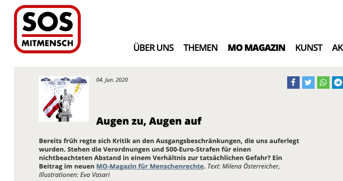 Screenshot der Webseite sosmitmensch.at
