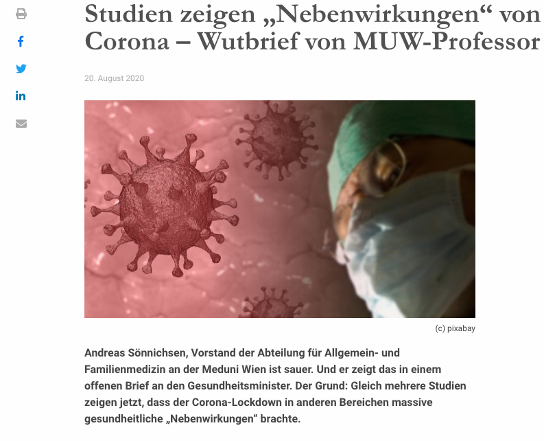 Screenshot der Webseite medmedia.at