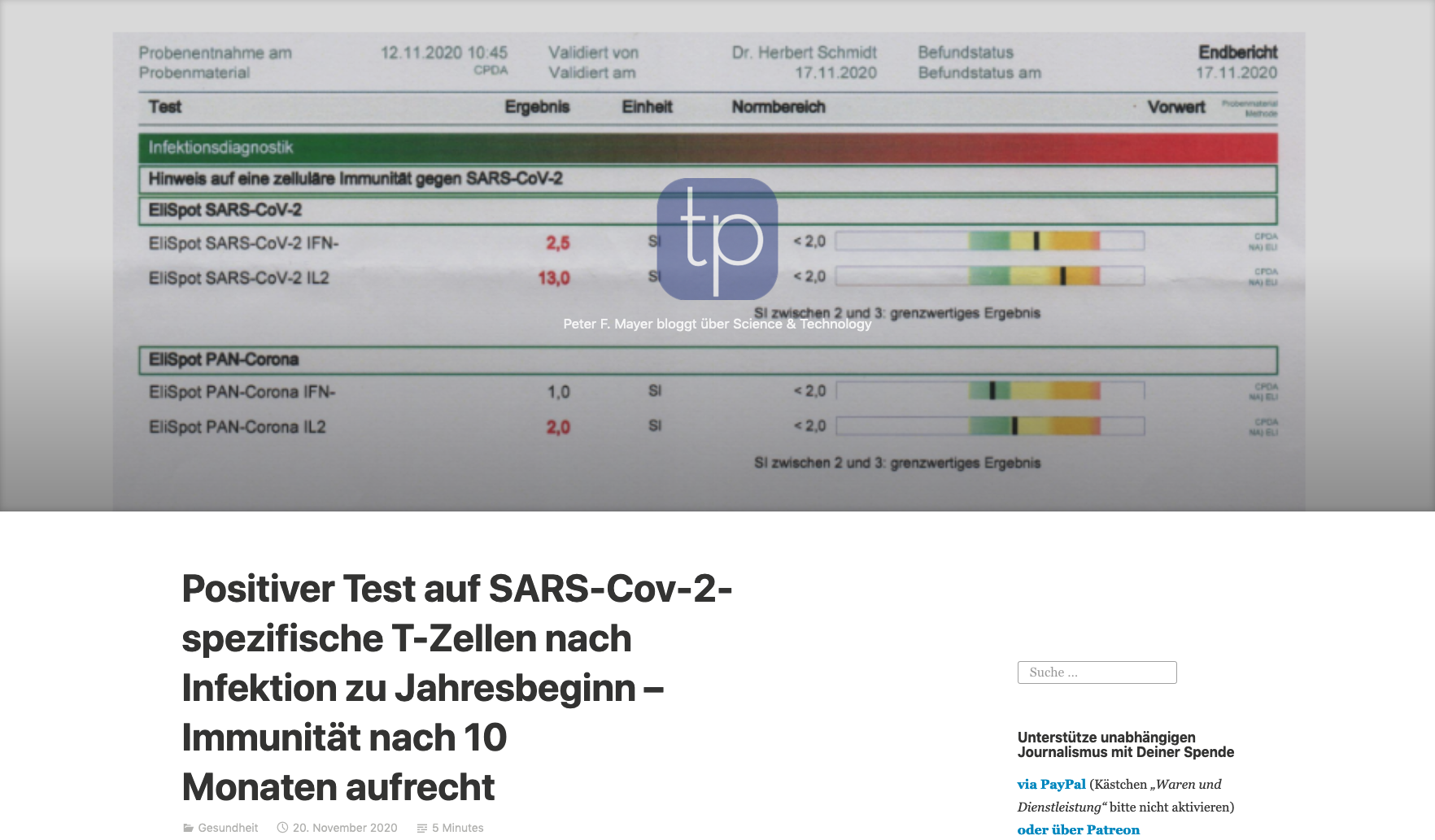 screenshot der websiete tkp.at