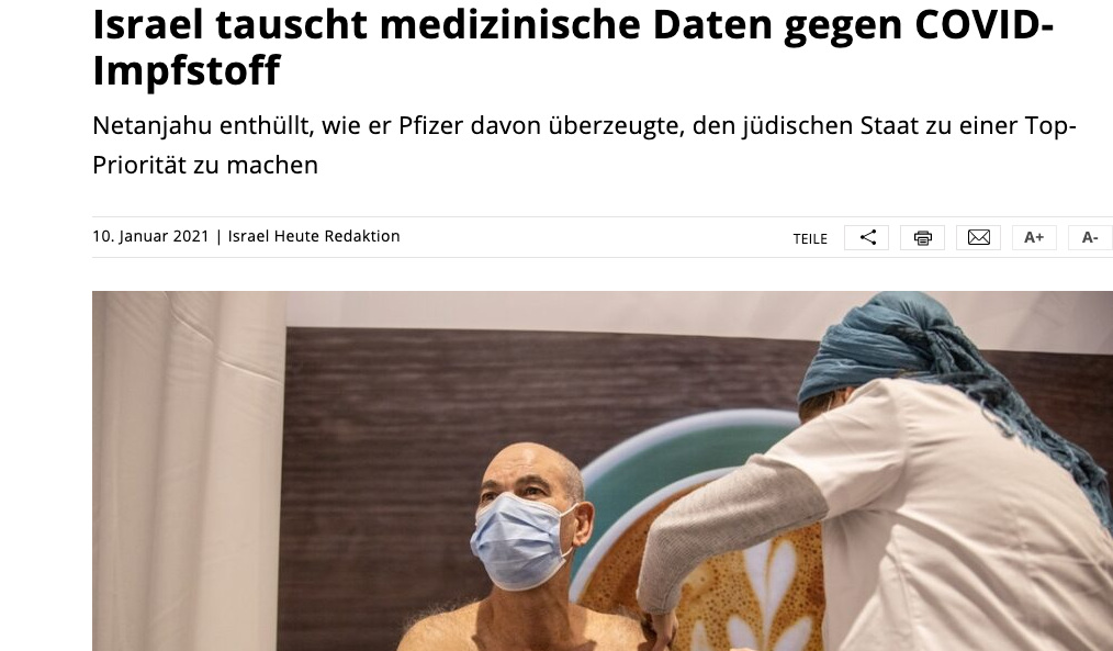 screenshot der websiete israelheute.com